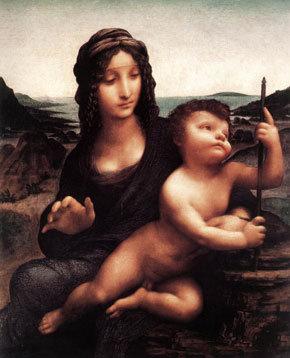 Leonardo da Vinvi Orsós Madonnája, amit 2003-ban loptak el