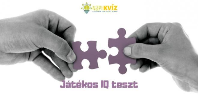Játékos IQ teszt