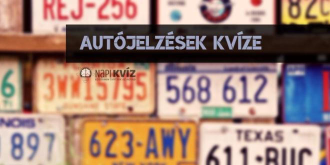 Melyik autójelzés melyik országhoz tartozik?