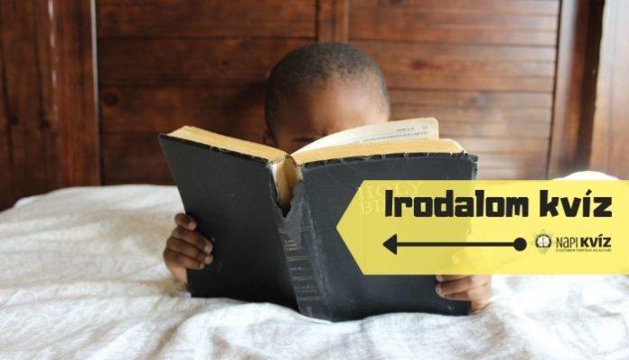 Irodalmi fogalmak kvíze