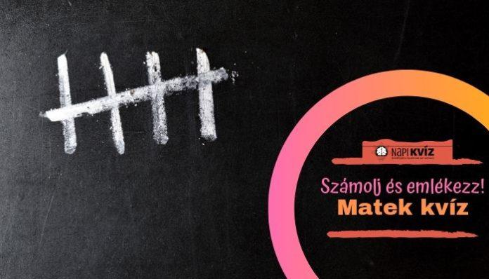 Középiskolás matek feladatok tesztje