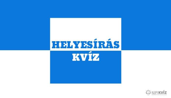 Magyar nyelvtan teszt