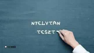 Melyik előtag illik a szavak elé? Nyelvtan teszt