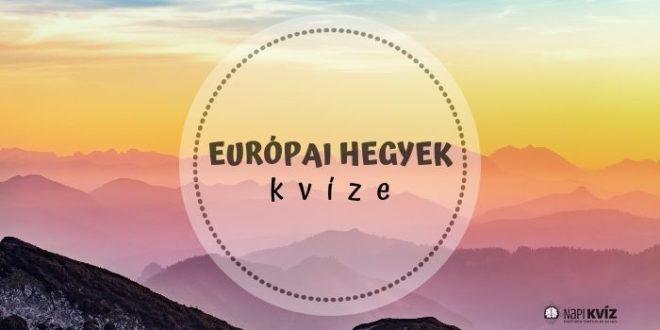 európai hegységek kvíze