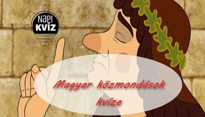 Nagy magyar szólás és közmondás kvíz borító